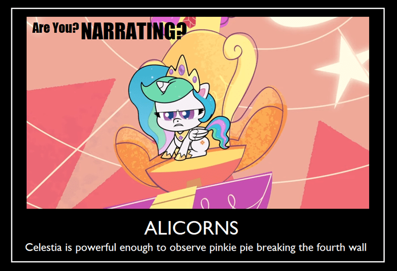 pony life screencap princess celestia demotivational - 9504099072