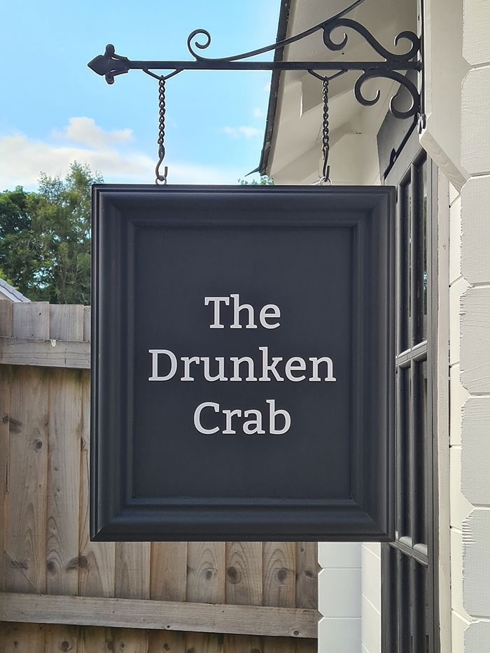 Text - The Drunken Crab