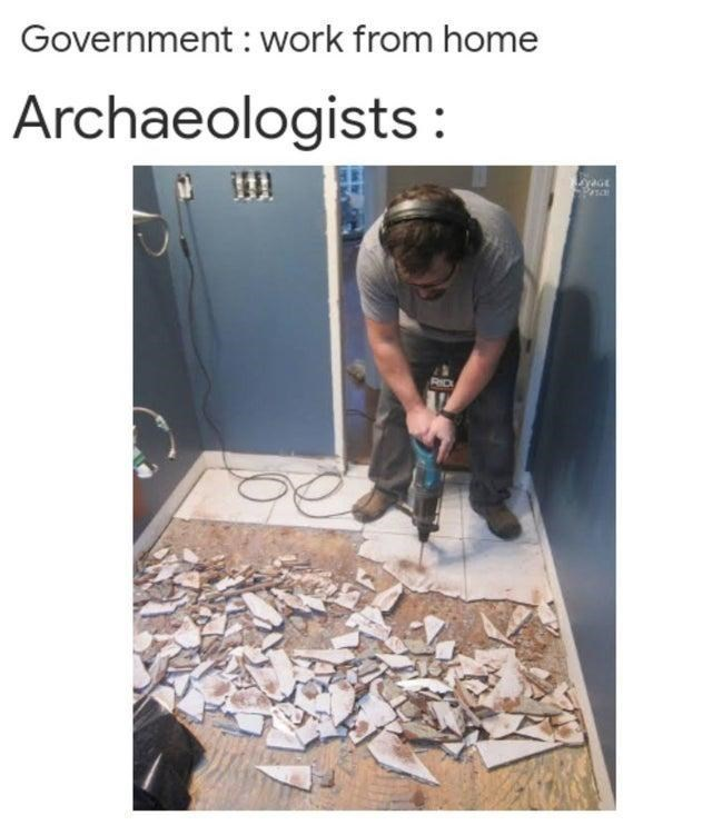 Floor - Government : work from home Archaeologists : RD
