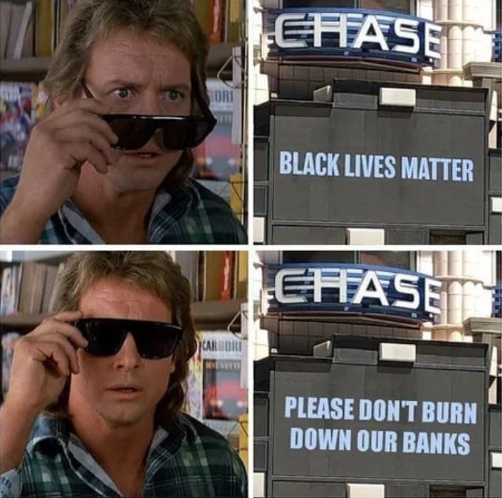 Eyewear - EFFASE IDRI BLACK LIVES MATTER CHASE CARHORI PLEASE DON'T BURN DOWN OUR BANKS