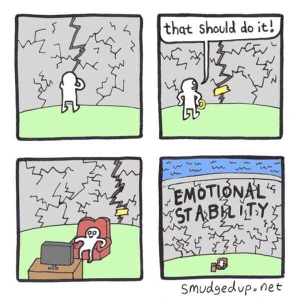 Cartoon - the that should do it! EMOTIONALS STABLITY Smudgedup.net
