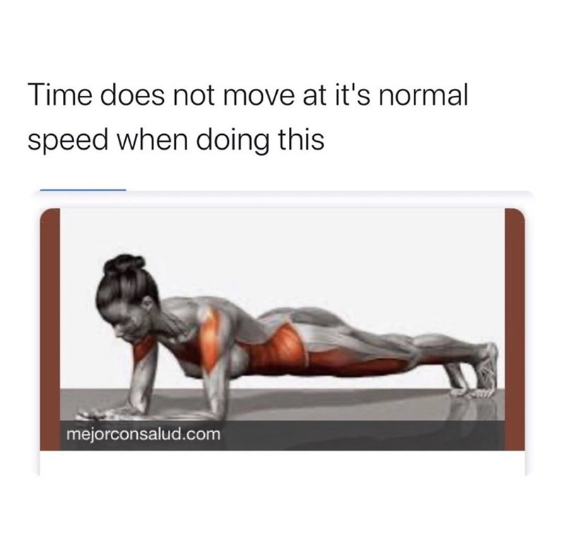 Press up - Time does not move at it's normal speed when doing this mejorconsalud.com
