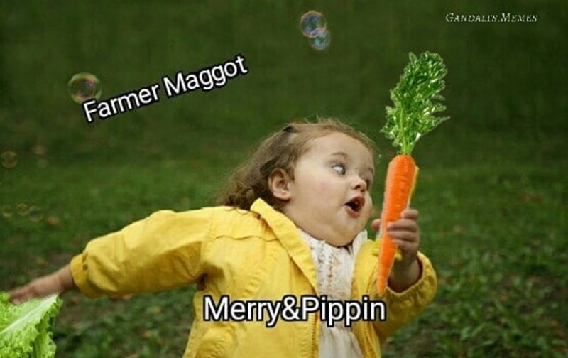 Happy - GANDALI'S.MEMES Farmer Maggot Merry&Pippin