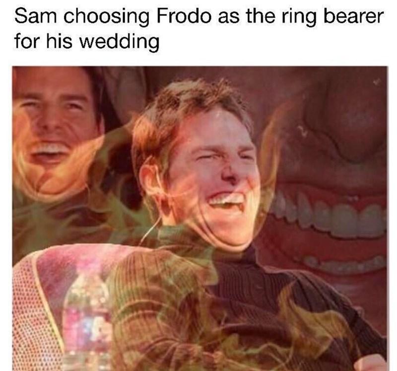 Face - Sam choosing Frodo as the ring bearer for his wedding