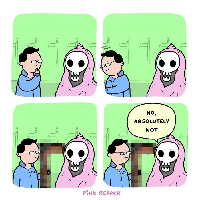 Cartoon - RusTLE NO, ABSOLUTELY NOT PINK REAPER