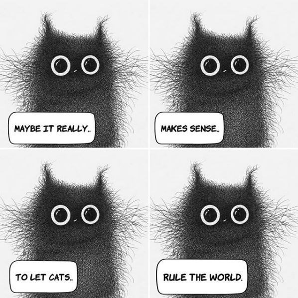 Owl - O.O O.O MAYBE IT REALLY. MAKES SENSE. O.O TO LET CATS. RULE THE WORLD.