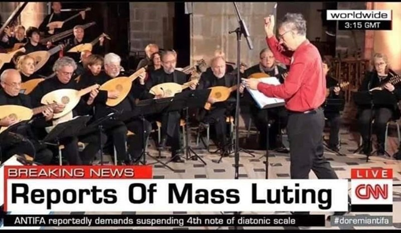 Musician - worldwide 3:15 GMT BREAKING NEWS LIVE Reports Of Mass Luting CN ANTIFA reportedly demands suspending 4th note of diatonic scale #doremiantifa