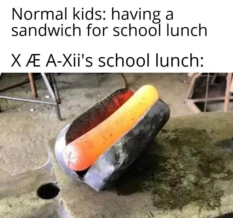 Tire - Normal kids: having a sandwich for school lunch XÆ A-Xii's school lunch: