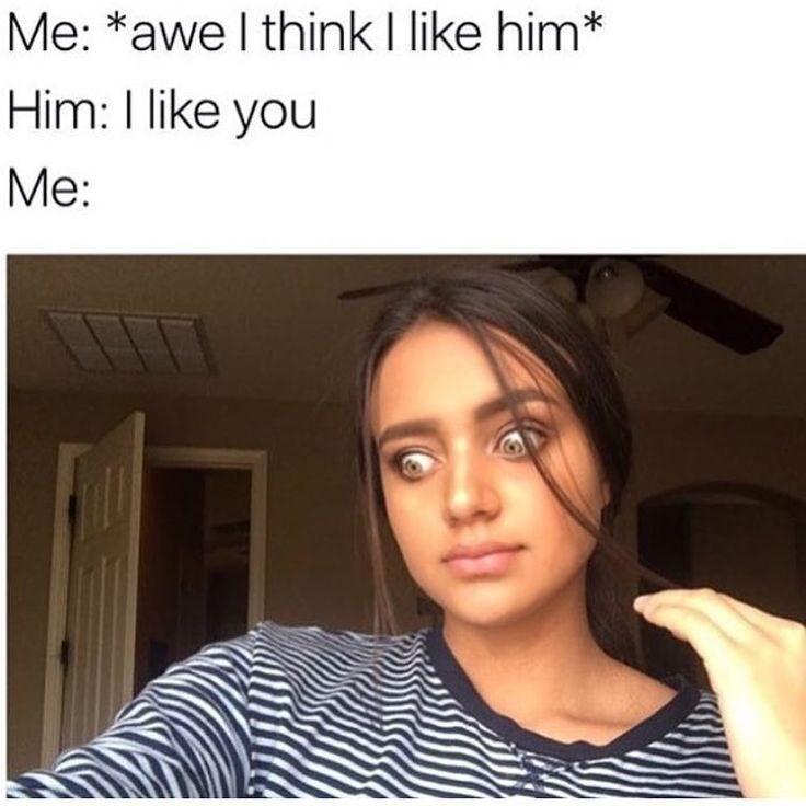 Text - Hair - Me: *awe I think I like him* Him: I like you Me:
