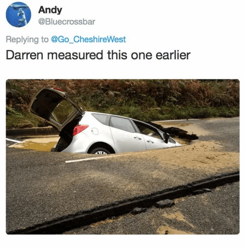 Motor vehicle - Andy @Bluecrossbar Replying to @Go_CheshireWest Darren measured this one earlier