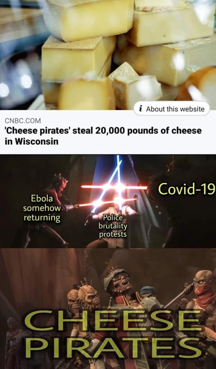 Font - i About this website CNBC.COM 'Cheese pirates' steal 20,000 pounds of cheese in Wisconsin Covid-19 Ebola somehow returning Police brutality protests CHEESE PIRATES