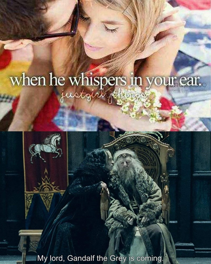Photography - when he whispers in your ear. justgri hig My lord, Gandalf the Grey is coming.
