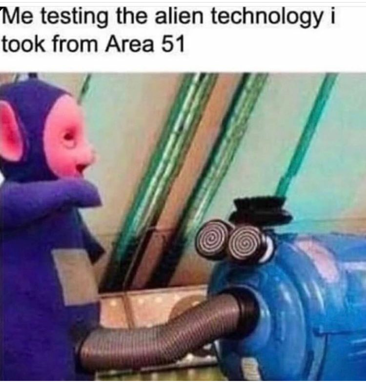 Animation - Me testing the alien technology i took from Area 51