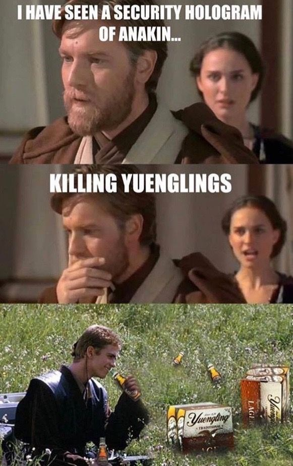 Movie - I HAVE SEEN A SECURITY HOLOGRAM OF ANAKIN. KILLING YUENGLINGS TRADITIONALe LAGE