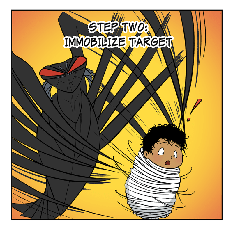 Cartoon - Cartoon - STEP TWO: IMMOBILIZE TARGET