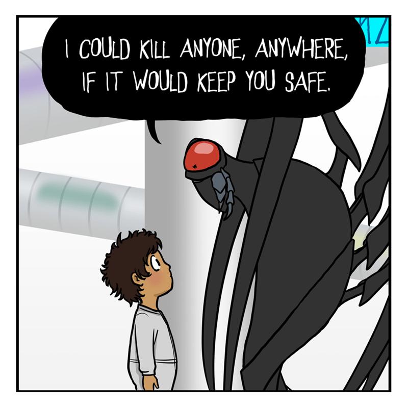 Cartoon - Cartoon -   COULD KILL ANYONE, ANYWHERE, IF IT WOULD KEEP YOU SAFE.