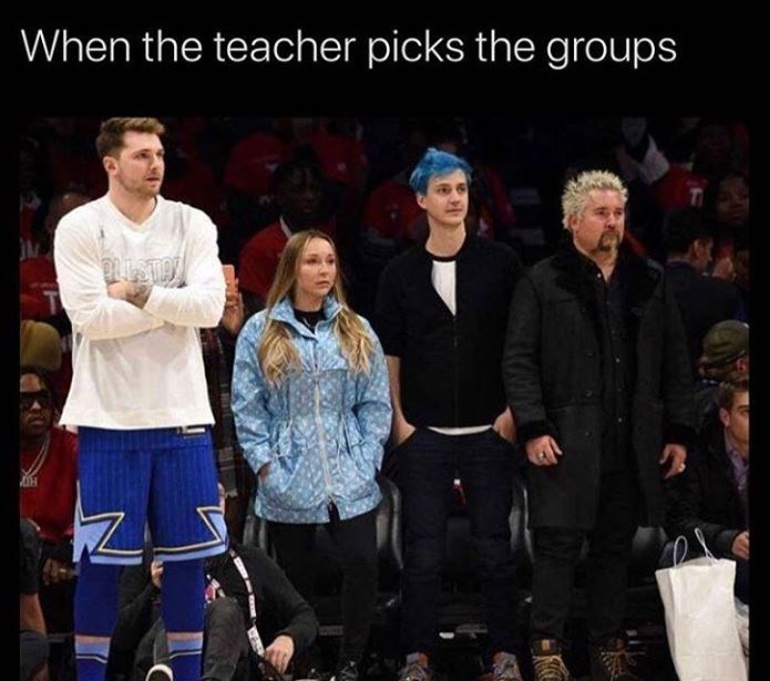 Product - When the teacher picks the groups