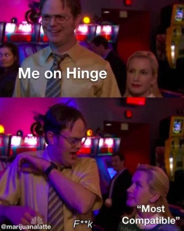 "Event - Me on Hinge ""Most F**k Compatible"" @marijuanalatte"