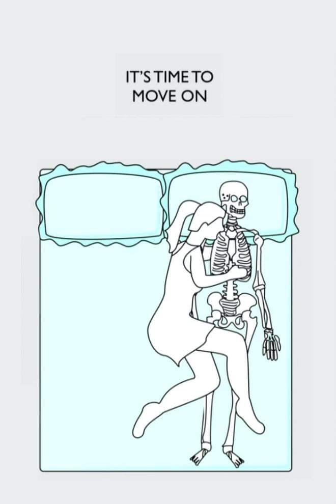 Cartoon - IT'S TIME TO MOVE ON