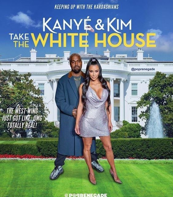 Movie - KEEPING UP WITH THE KARDASHIANS KANYÉ & KIM 'ANE WHITE HOUSE THE @poprenegade * THE WEST WING JUST GOT LIKE, OMG TOTALLY REAL! POGRENECADE