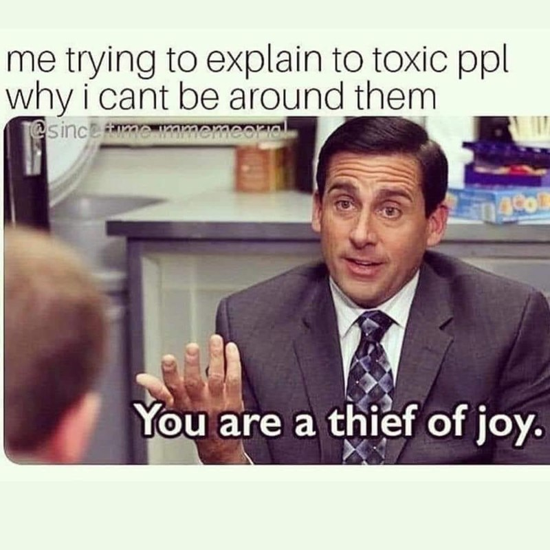 Text - me trying to explain to toxic ppl why i cant be around them @sinceme mmmemeerial You are a thief of joy.
