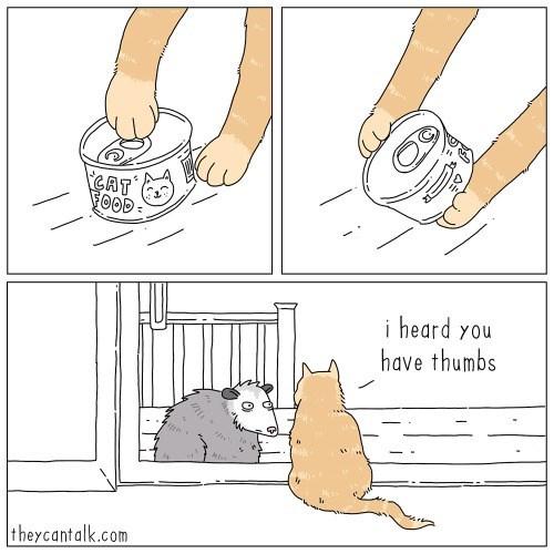 Hand - CAT FOOD : i heard you have thumbs theycantalk.com