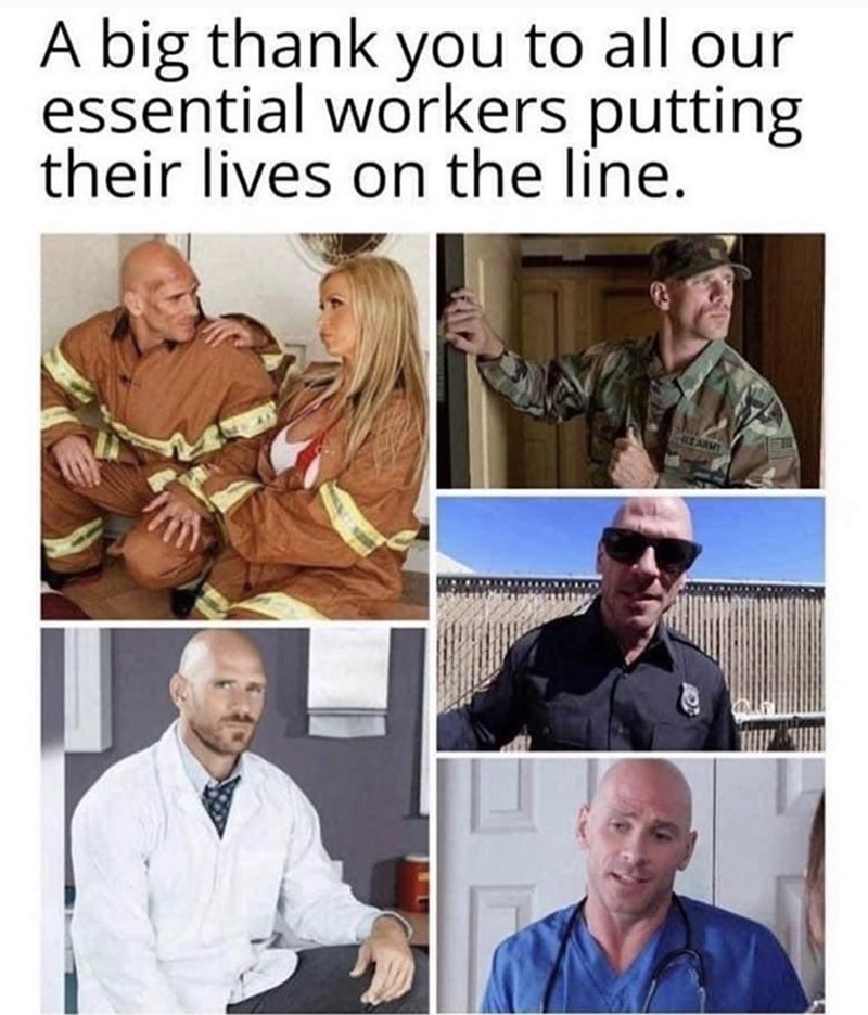 Human - A big thank you to all our essential workers putting their lives on the line. E ARMT