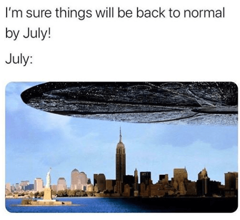 Skyline - I'm sure things will be back to normal by July! July: