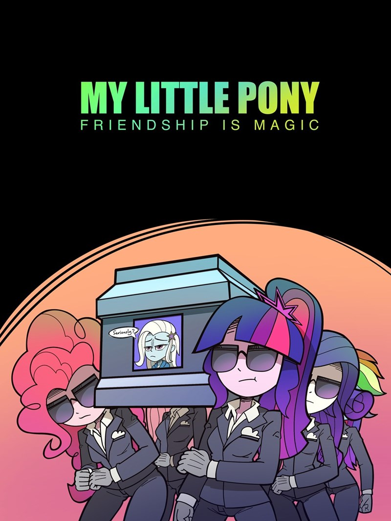 coffin dance emerald light the great and powerful trixie equestria girls twilight sparkle pinkie pie Memes rarity ponify fluttershy rainbow dash - 9514339072