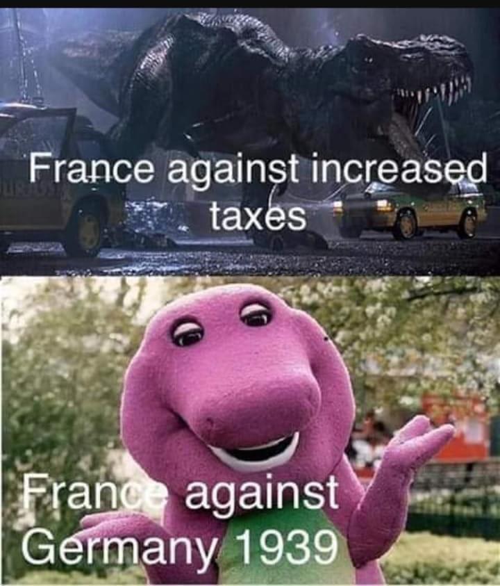 Animated cartoon - France against increased taxes France against Germany 1939
