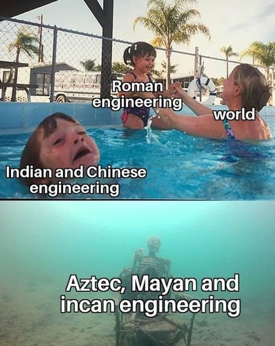Swimming pool - Roman engineering world Indian and Chinese engineering Aztec, Mayan and incan engineering