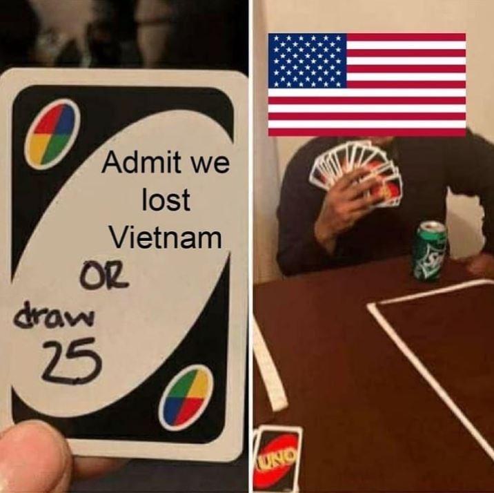 Games - Admit we lost Vietnam OR draw 25 OND