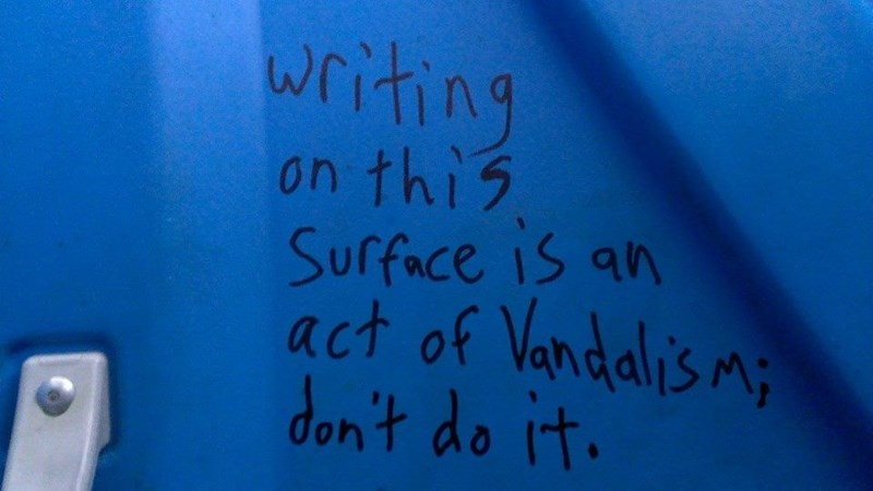 Text - writing on this Surface is an act of Vando don't do it.