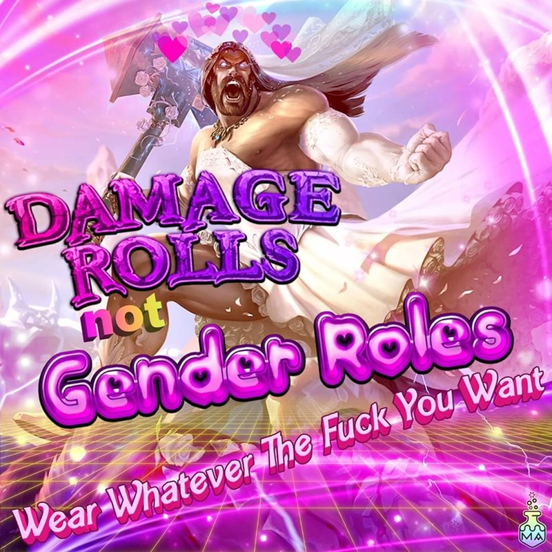 Text - DAMAGE ROLLS not Gender Roles Wear-Whatever The Fuck You Want MA