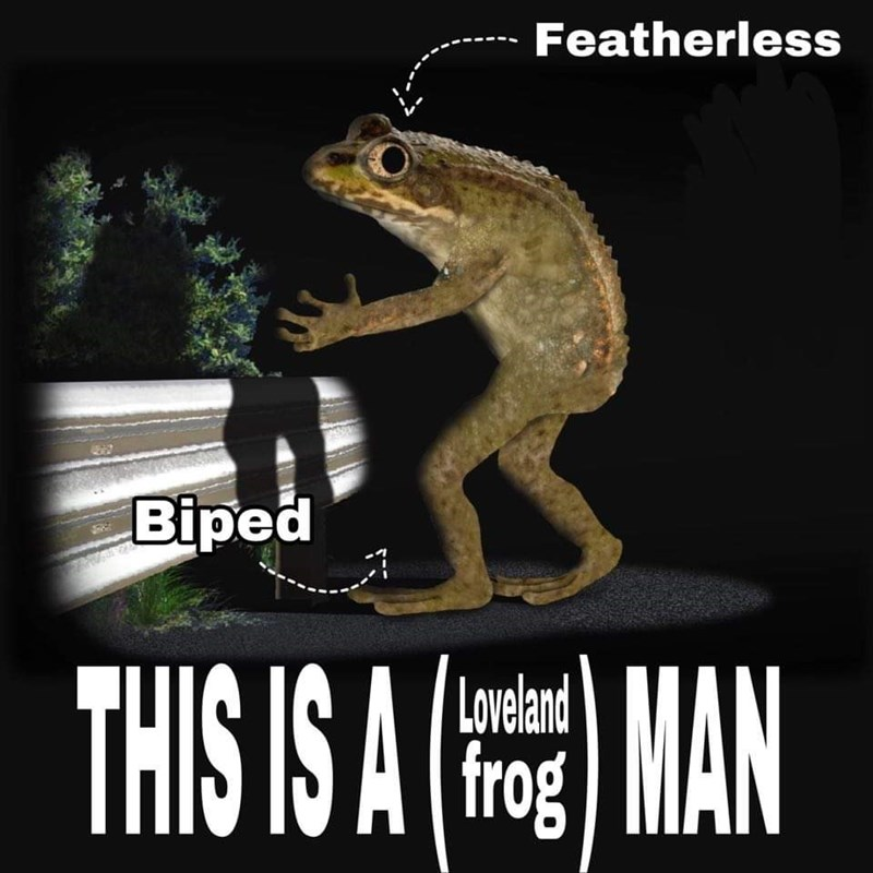 Frog - Featherless Biped THIS IS A Loveland frog MAN