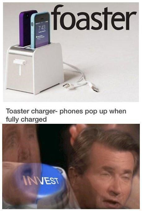 Product - foaster 743 Toaster charger- phones pop up when fully charged INVEST