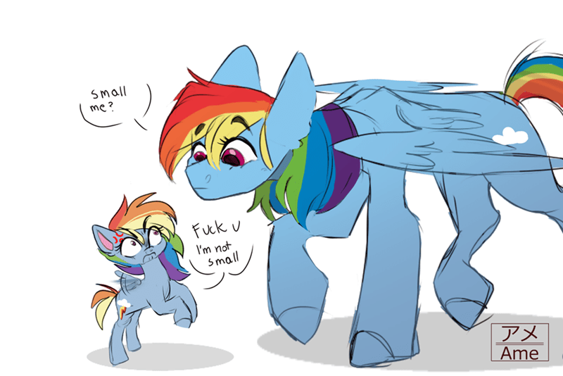 ame the salad hair rainbow dash - 9516485120