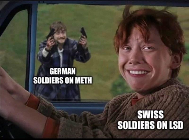 People - GERMAN SOLDIERS ON METH SWISS SOLDIERS ON LSD