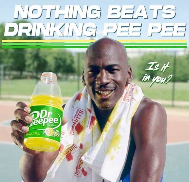 Drink - NOTHING BEATS DRINKING PEE PEE Is it in yeu? Pepee Dr TANGY CITRUS ILLUNIM ILLUNIM TI UNIM TI ILLUN RPORAT