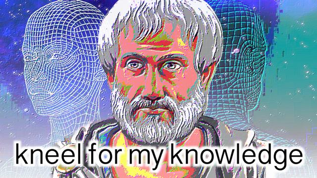 Illustration - kneel for my knowledge