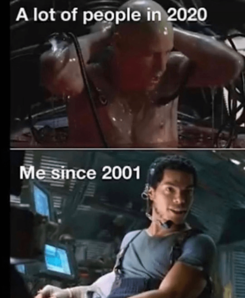 Funny random memes, dank memes, stupid memes, funny memes | A lot of people 2020 Me since 2001 Neo waking up in The Matrix