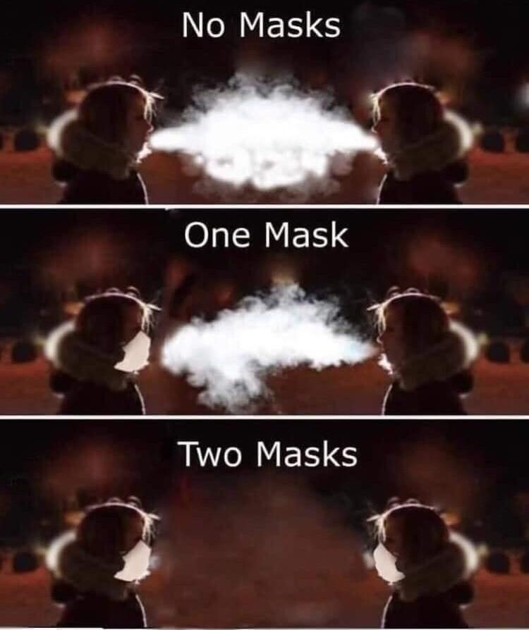 Sky - No Masks One Mask Two Masks