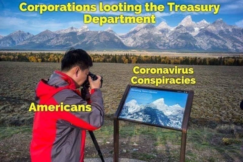 Natural landscape - Corporations looting the Treasury Department Coronavirus Conspiracies shrinking Tee Gcers Americans