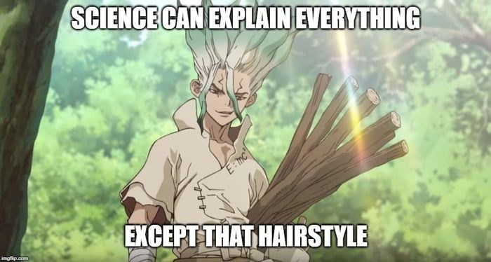 Cartoon - SCIENCE CAN EXPLAIN EVERYTHING E:mc EXCEPT THAT HAIRSTYLE mgip.com