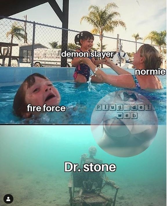 Swimming pool - A demon slayer normie fire force W. Dr. stone
