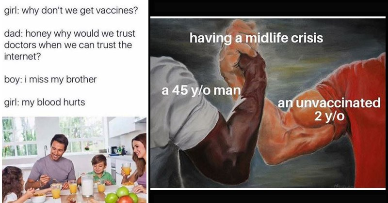 Funny memes about anti-vaxxers