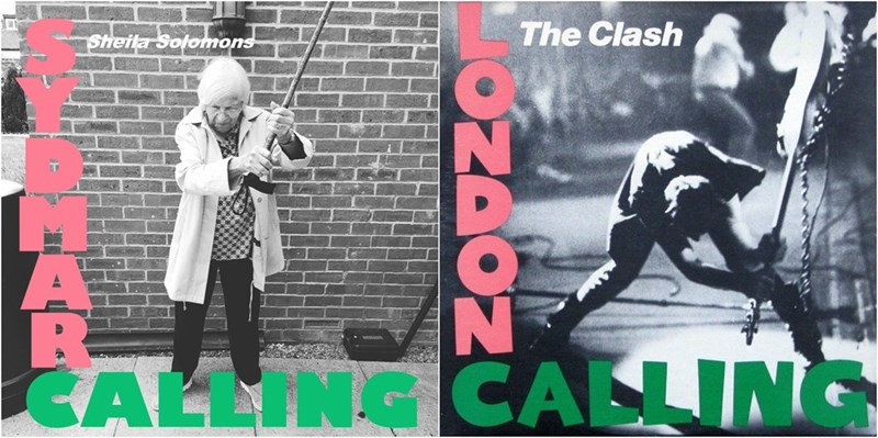 Poster - Sheila Solomons The Clash CALLING CALLING