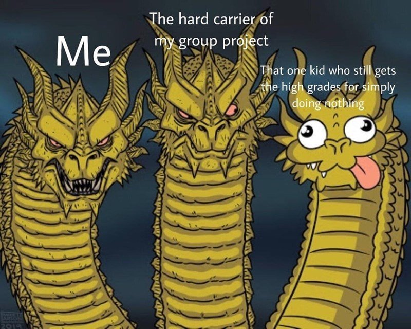Cartoon - The hard carrier of Me my group próject That one kid who still gets the high grades for simply doing nothing COSAN 2014