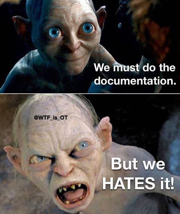 Photo caption - We must do the documentation. @WTF_is_OT But we HATES it!