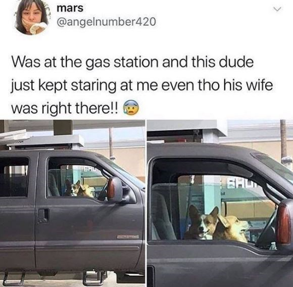 Land vehicle - mars @angelnumber420 Was at the gas station and this dude just kept staring at me even tho his wife was right there!! EHU